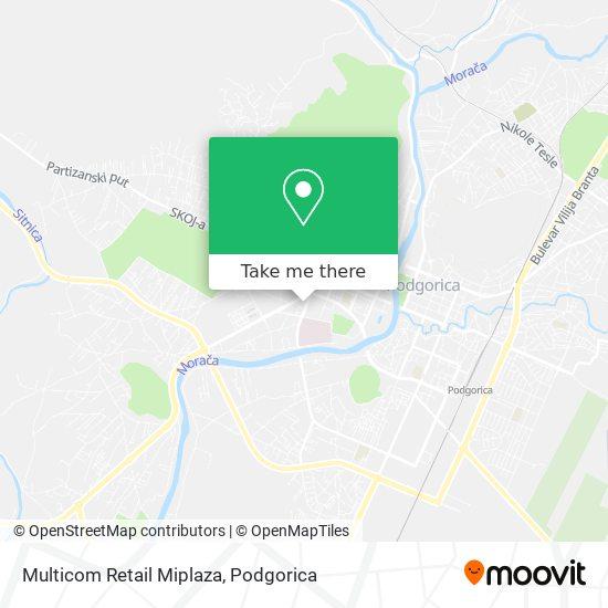 Multicom Retail Miplaza map