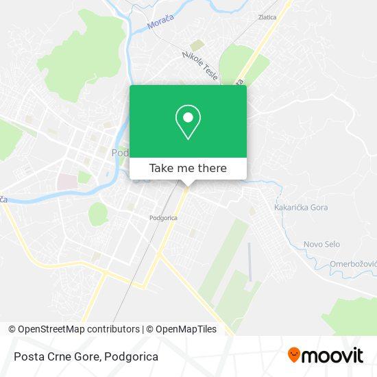 Posta Crne Gore map