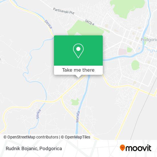 Rudnik Bojanic map