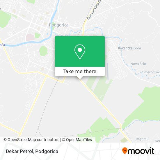 Dekar Petrol map