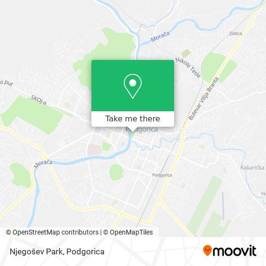 Njegošev Park map