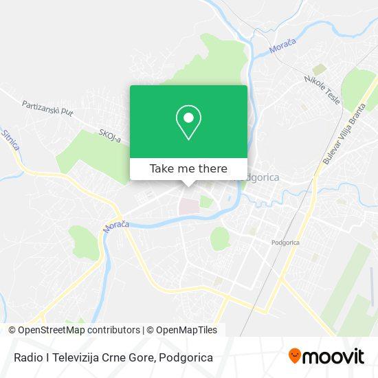 Radio I Televizija Crne Gore map