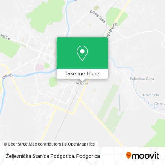Željeznička Stanica Podgorica map