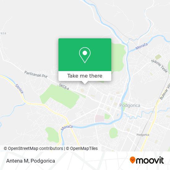 Antena M map
