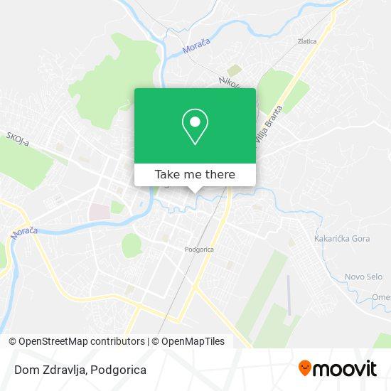 Dom Zdravlja map