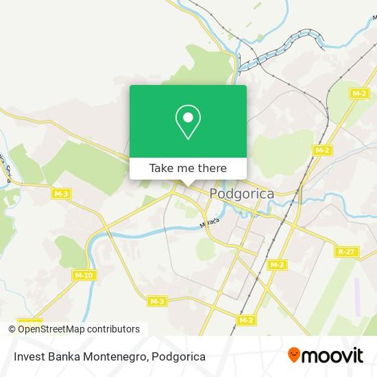 Invest Banka Montenegro map