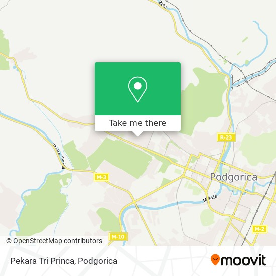 Pekara Tri Princa map