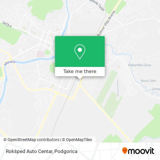 Rokšped Auto Centar map
