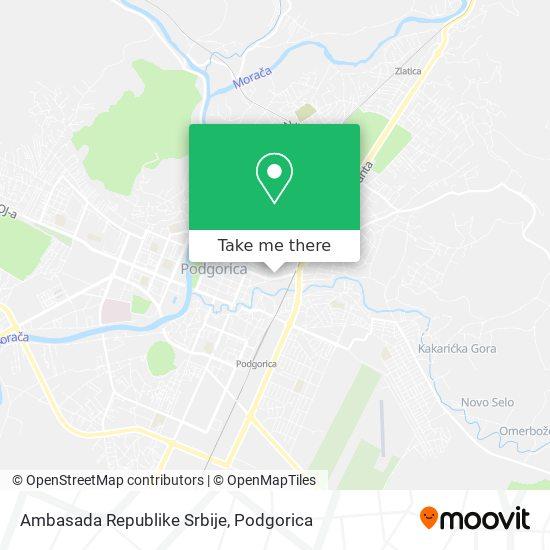 Ambasada Republike Srbije map