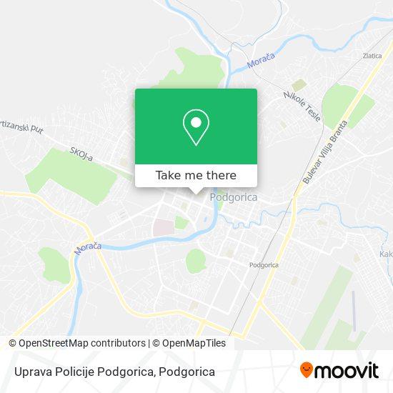 Uprava Policije Podgorica map