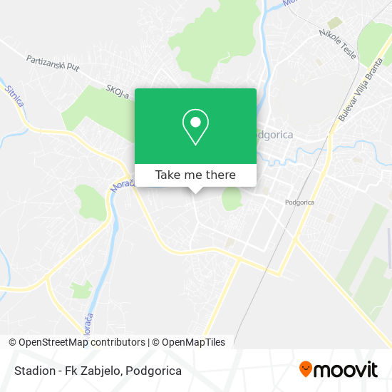 Stadion - Fk Zabjelo map