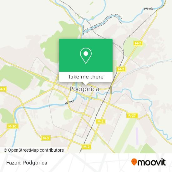 Fazon map
