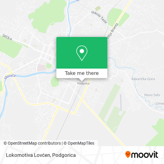 Lokomotiva Lovćen map