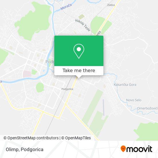 Kladionica Olimp map