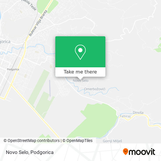 Novo Selo map