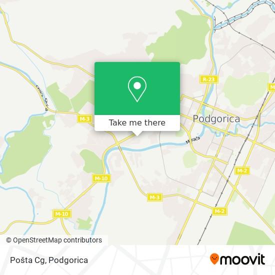 Pošta Cg map