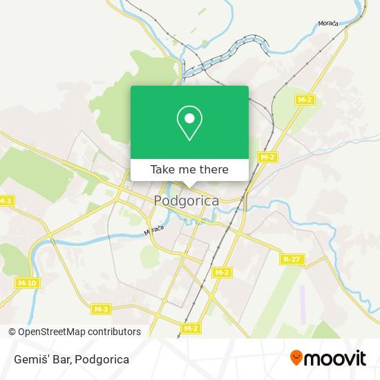 Gemiš' Bar map