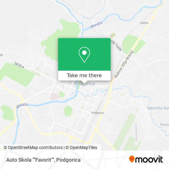 "Auto Skola ""Favorit"" map"