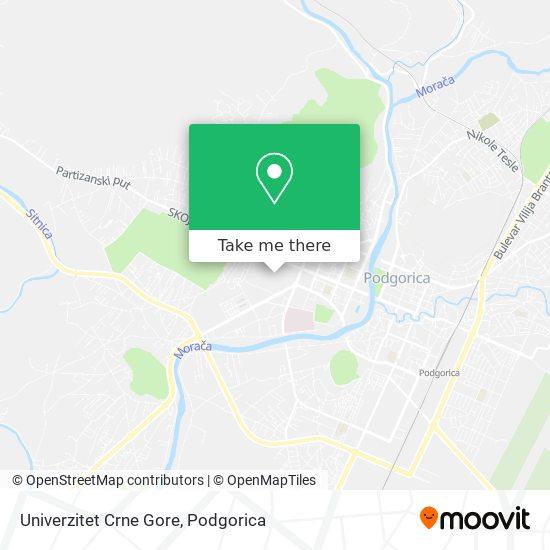 Univerzitet Crne Gore map