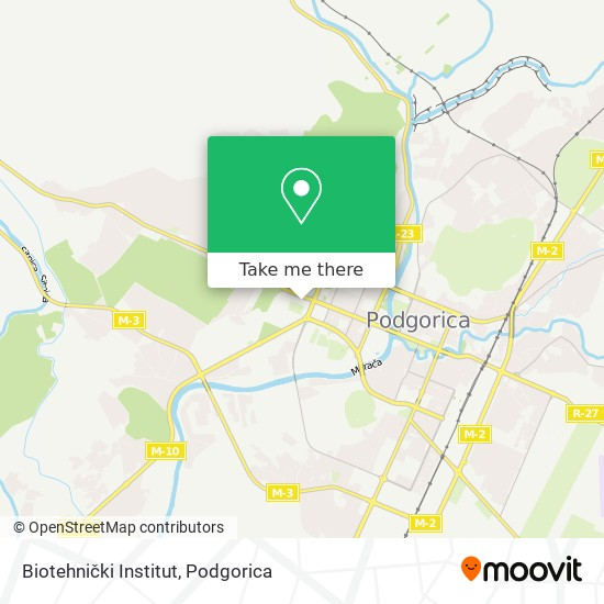 Biotehnički Institut map