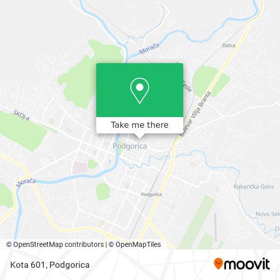 Kota 601 map