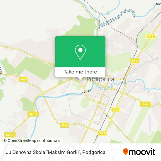 "Ju Osnovna Škola ""Maksim Gorki"" map"