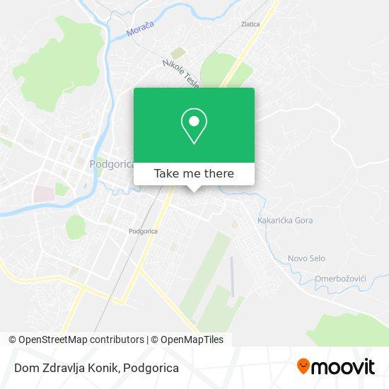 Dom Zdravlja Konik map