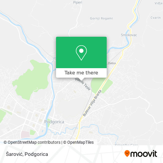 Šarović map