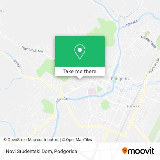 Novi Studentski Dom map
