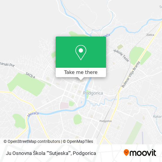 "Ju Osnovna Škola ""Sutjeska"" map"