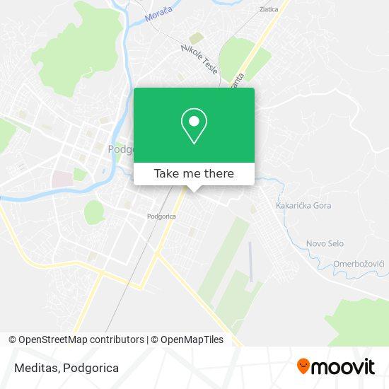 Apoteka Meditas map