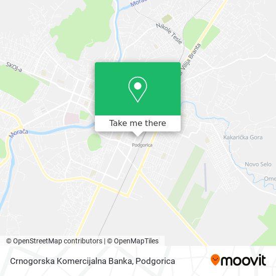 Crnogorska Komercijalna Banka map
