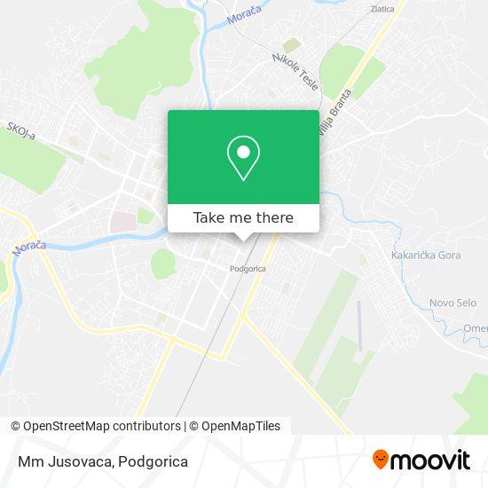 Mm Jusovaca map