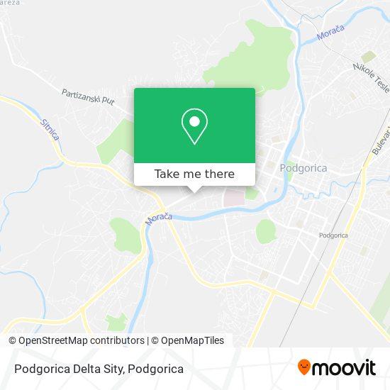 Podgorica Delta Sity map
