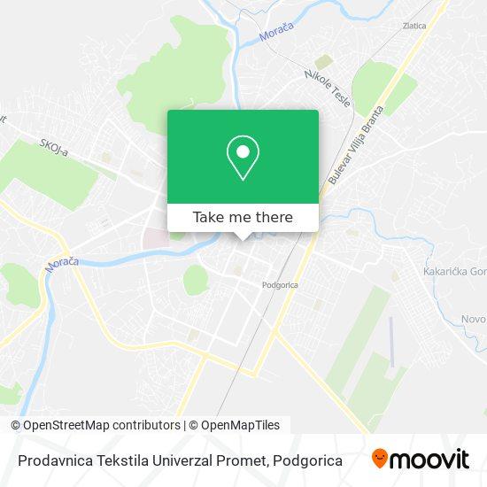 Prodavnica Tekstila Univerzal Promet map