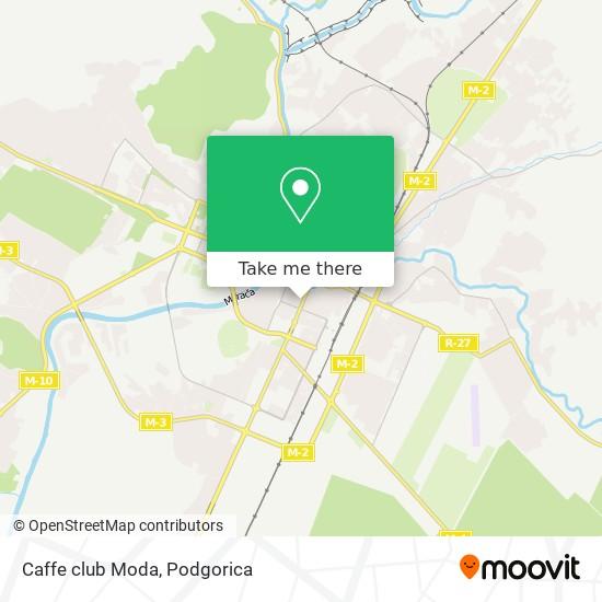 Caffe club Moda map
