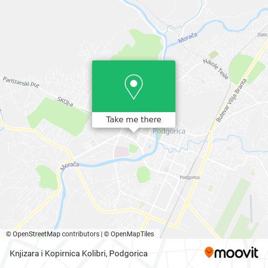 Knjizara i Kopirnica Kolibri map