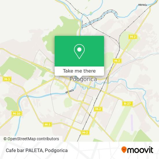 Cafe bar PALETA map
