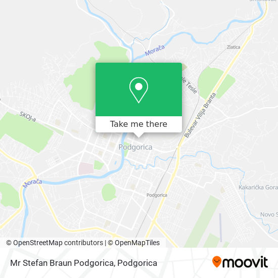 Mr Stefan Braun Podgorica map