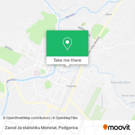 Zavod za statistiku Monstat map