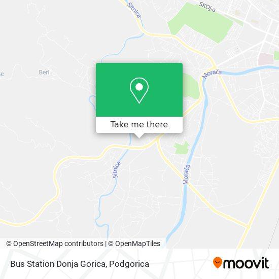 Bus Station Donja Gorica map