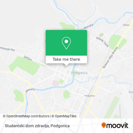 Studentski dom zdravlja map