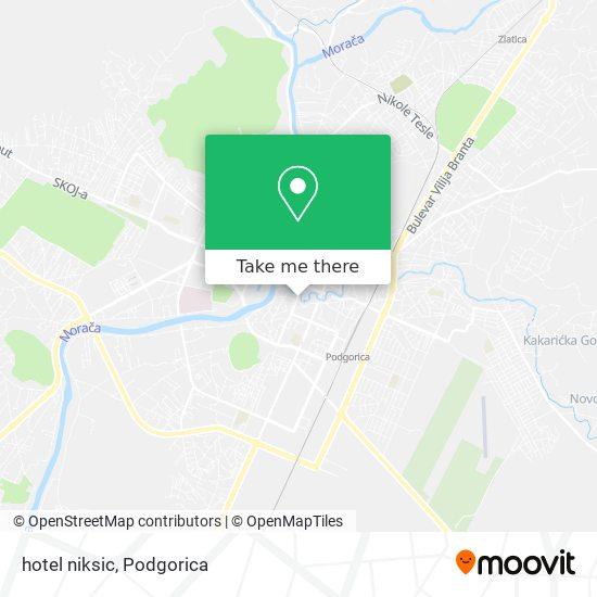 hotel niksic map