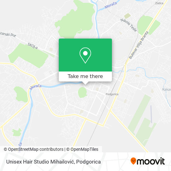 Unisex Hair Studio Mihailović map
