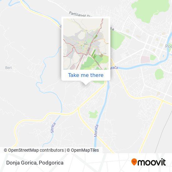 Donja Gorica map
