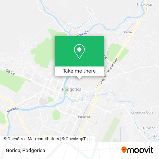 Gorica map