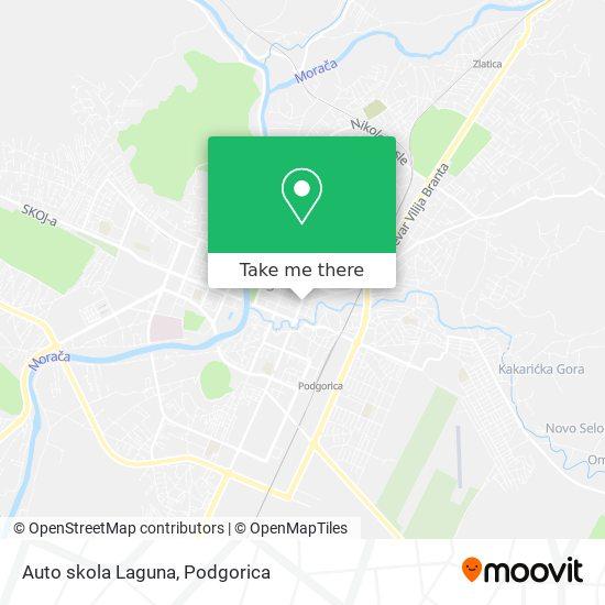 Auto skola Laguna map