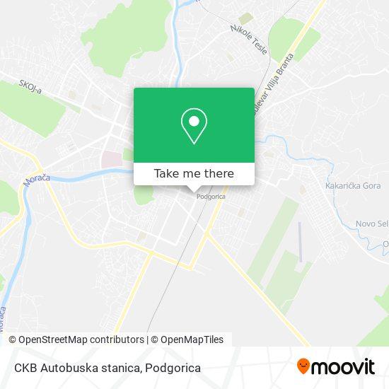 CKB Autobuska stanica map