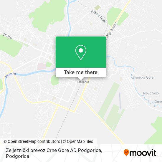 Željeznički prevoz Crne Gore AD Podgorica map