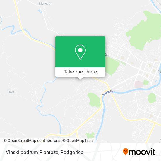 Vinski podrum Plantaže map